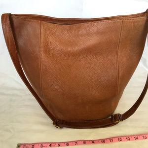 Coach Brown Pebble Leather Feedsack Bag